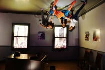 Spiderman powers, clinging on the ceiling