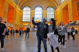 Reliving the moments from Kal Ho Na Ho (for Nita) and Madagascar for me! Loving Grand Central